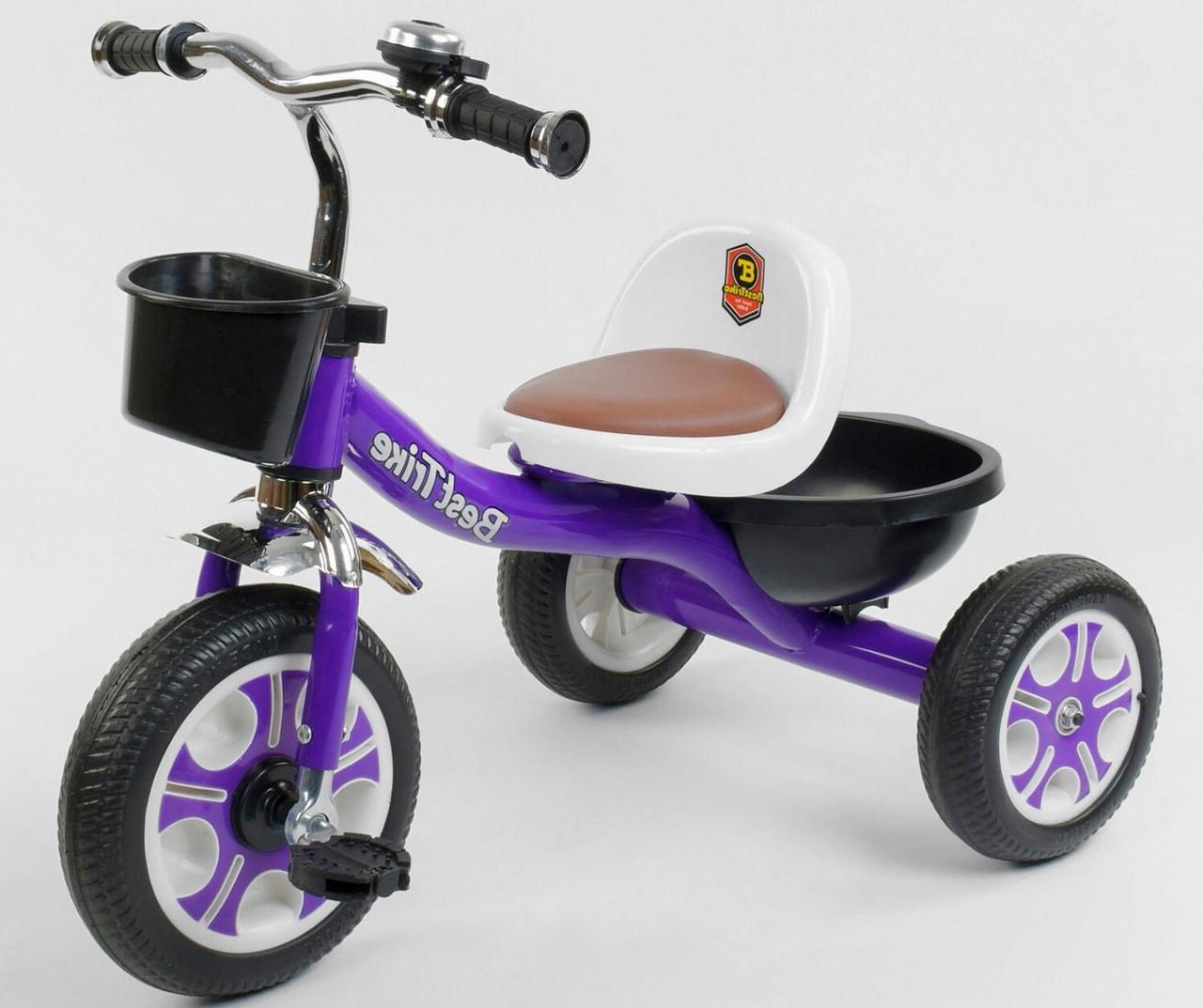 Детский трехколесный велосипед, Eva колеса, звоночек, 2 корзины, металлическая рама, Best Trike LM-1355