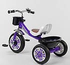 Детский трехколесный велосипед, Eva колеса, звоночек, 2 корзины, металлическая рама, Best Trike LM-1355, фото 3