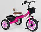 Дитячий триколісний велосипед, Eva колеса, дзвіночок, 2 кошика, металева рама, Best Trike LM-2806, фото 2