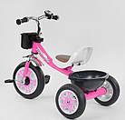 Дитячий триколісний велосипед, Eva колеса, дзвіночок, 2 кошика, металева рама, Best Trike LM-2806, фото 3