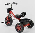 Детский трехколесный велосипед, Eva колеса, звоночек, 2 корзины, металлическая рама, Best Trike LM-3577, фото 3