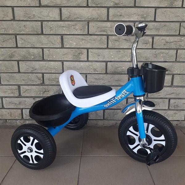 Дитячий триколісний велосипед, Eva колеса, дзвіночок, 2 кошика, металева рама, Best Trike LM-4405