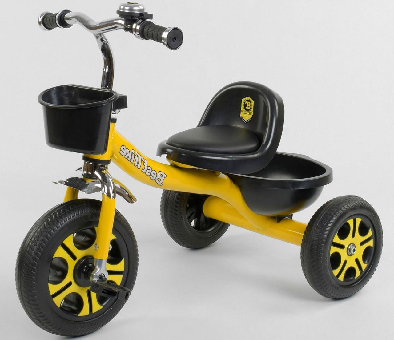 Детский трехколесный велосипед, Eva колеса, звоночек, 2 корзины, металлическая рама, Best Trike LM-9033