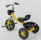 Детский трехколесный велосипед, Eva колеса, звоночек, 2 корзины, металлическая рама, Best Trike LM-9033, фото 3