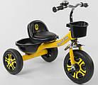 Детский трехколесный велосипед, Eva колеса, звоночек, 2 корзины, металлическая рама, Best Trike LM-9033, фото 4