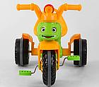 Дитячий триколісний велосипед, Eva колеса, клаксон на кермі, спинка з ручкою держателем, Pilsan 07-163, фото 2