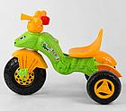 Дитячий триколісний велосипед, Eva колеса, клаксон на кермі, спинка з ручкою держателем, Pilsan 07-163, фото 3