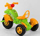 Дитячий триколісний велосипед, Eva колеса, клаксон на кермі, спинка з ручкою держателем, Pilsan 07-163, фото 5