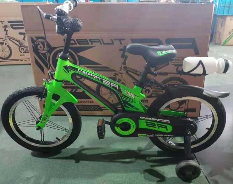 Детский велосипед, 16 дюймовые колеса, алюминиевые диски, бутылочка, магниевая рама, звонок, Corso 39373