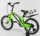 Детский велосипед, 16 дюймовые колеса, алюминиевые диски, бутылочка, магниевая рама, звонок, Corso 39373, фото 3
