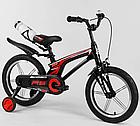 Детский велосипед, 16 дюймовые колеса, алюминиевые диски, бутылочка, магниевая рама, звонок, Corso 83564, фото 4