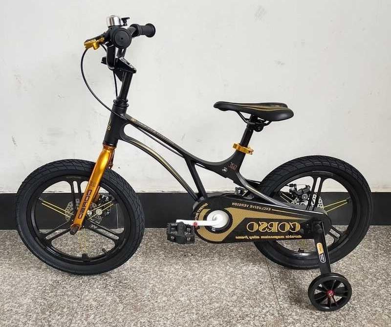 Детский велосипед, 16 дюймовые колеса, магниевые диски, ручной дисковый тормоз, доп. колеса, Corso LT-44200