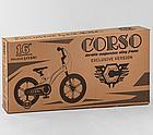 Детский велосипед, 16 дюймовые колеса, магниевые диски, ручной дисковый тормоз, доп. колеса, Corso LT-44200, фото 10
