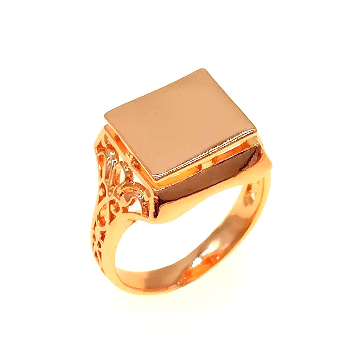 Чоловіче кільце (печатка) Xuping з медичного золота, позолота 18K, 11872 (19)
