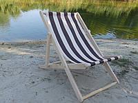 Кресло шезлонг раскладное Бук 110х64 Деревянный пляжный шезлонг лежак для сада и дома отдыха на природе