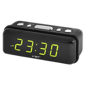 Часы сетевые VST-738-2 зеленые, 220V