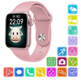 Smart Watch Series 6 M16 PLUS, 44mm Aluminium, голосовой вызов, pink