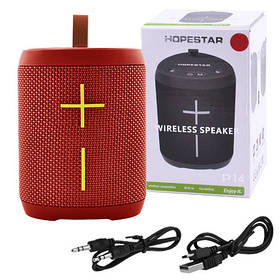 Bluetooth-колонка HOPESTAR-P14, StrongPower, c функцией speakerphone, радио, PowerBank, red