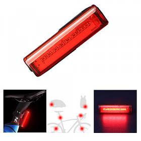 Велофонарь STOP + Security маячoк T15-16NANO LED red, аккум., ЗУ micro USB