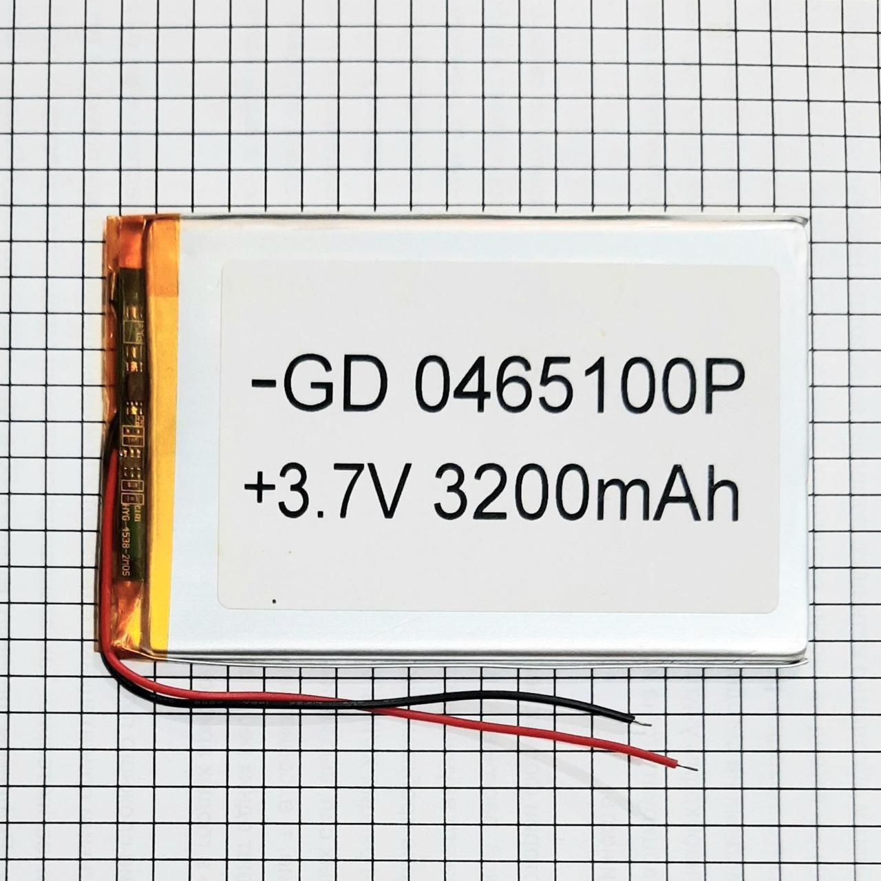 Літієвий акумулятор Li-Pol 0465100 3200mah 3.7v