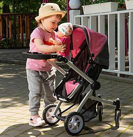 Коляска для ляльок 2 в 1 Carrello Maestro 9651B Pink Рожевий