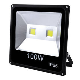Прожектор світлодіодний матричний 100W 2COB, IP66 (вологозахист), гладкий рефлектор - 10