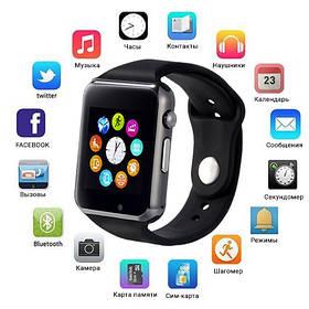 Smart Watch A1, Sim cart + камера, black