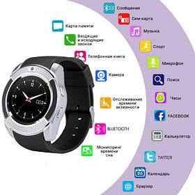 Smart Watch V8, Sim card + камера, silver