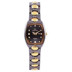 Часы наручные на браслете GL Collection 934 L квадрат., комби
