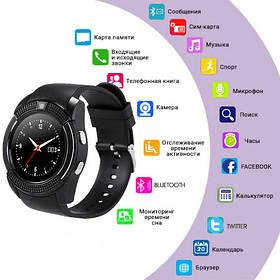 Smart Watch V8, Sim card + камера, black