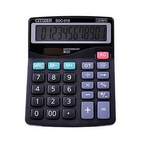 Калькулятор CITIZEN 519, подвійне живлення