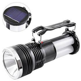Фонарь переносной Luxury 2881 T, 1W+16SMD, солнечная батарея, ЗУ 220V, встроенный аккумулятор