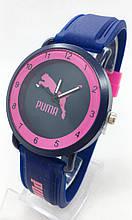 Годинники жіночі наручні спортивні Puma (Пума), сині з рожевим ( код: IBW699ZP )