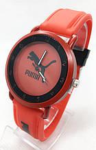 Годинники жіночі наручні спортивні Puma (Пума), червоні з чорним ( код: IBW699RB )