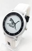 Годинники жіночі наручні спортивні Puma (Пума), білі з чорним ( код: IBW699OB )