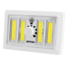 Підсвічування універсальна у вигляді вимикача F028-4COB, диммер, магніт, липучки, 4хААА