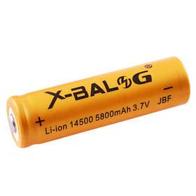 Аккумулятор 14500, X-Balog, 5800mAh, золотой