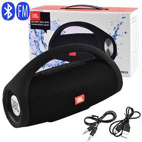 Bluetooth-колонка BOOMS BOX MINI, c функцией PowerBank, speakerphone, радио, black