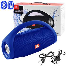 Bluetooth-колонка BOOMS BOX MINI, c функцией PowerBank, speakerphone, радио, blue