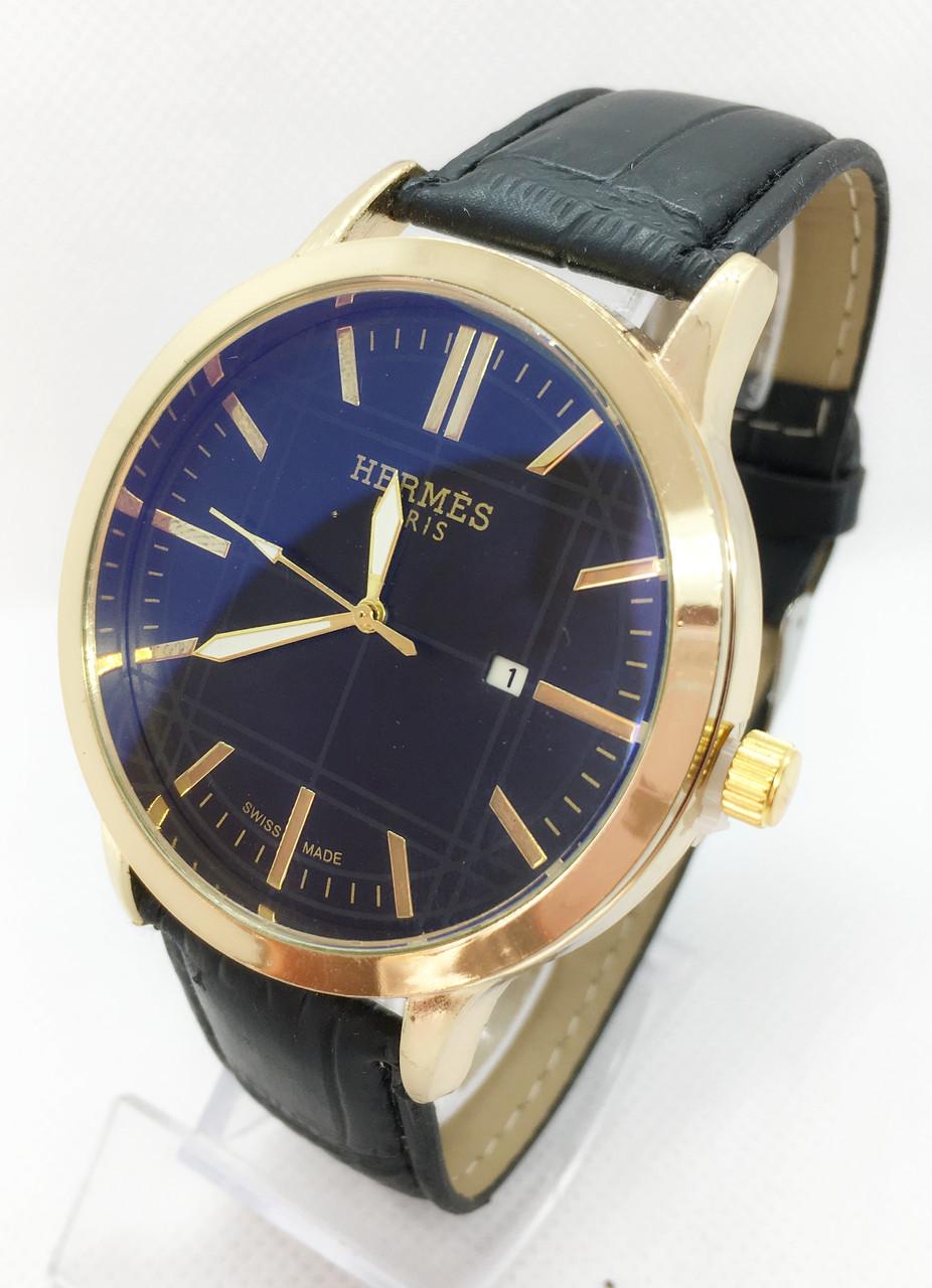 Чоловічі наручні годинники Негмеѕ, золото з чорним ремінцем ( код: IBW635YB )