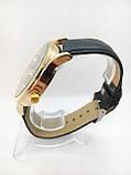 Чоловічі наручні годинники Негмеѕ, золото з чорним ремінцем ( код: IBW635YB ), фото 3