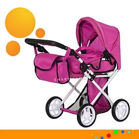 Коляска для ляльок з сумкою Carrello Unica 9346 Hot Pink Рожевий