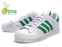 Кроссовки, Adidas Superstar White-Green, фото 1