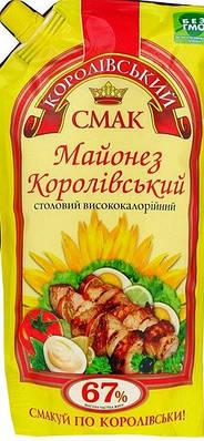 """Майонез ТМ """" Королівський Смак 67% 300 грам"""