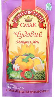 """Майонез ТМ """" Королівський Смак 50% 300 грам"""