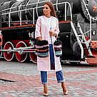 Пальто с меховыми карманами из песца 10466, фото 2