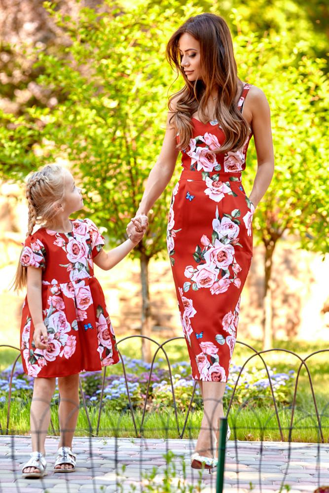 Сукня Family Look доросле , з трояндами 11064