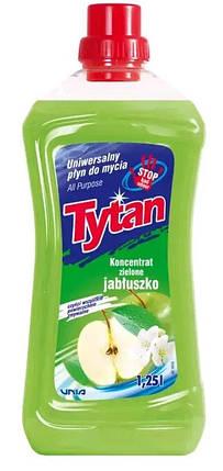 Універсальна рідина для миття Tytan концентрат зелене яблуко 1.25 л, фото 2
