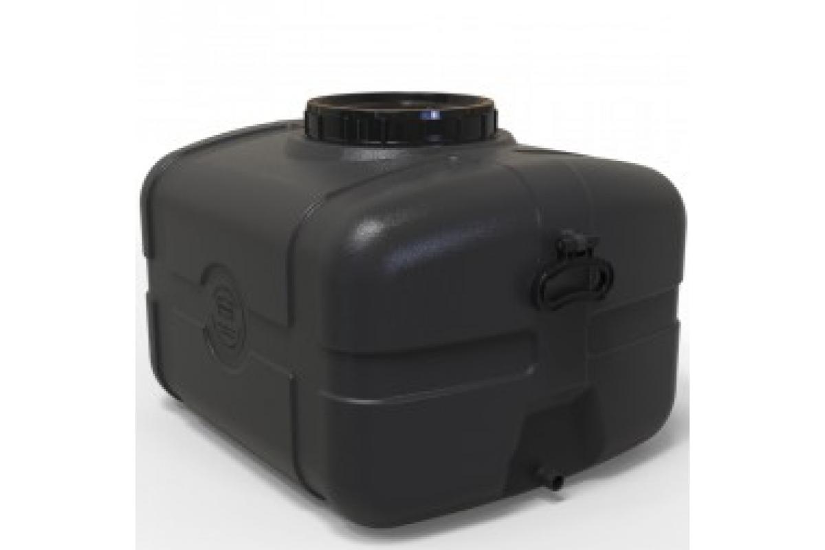 Бак для води прямокутний чорний 85л