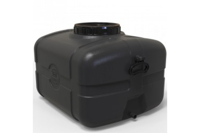 Бак для води прямокутний чорний 85л, фото 2